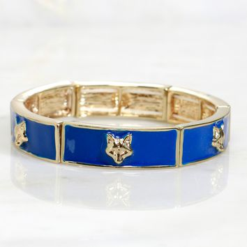 Fox Enamel Bracelet Blue