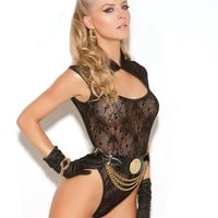 LACE TEDDY W/ KEYHOLE FRONT
