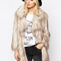 River Island Faux Fur Shaggy Jacket