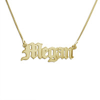THE GOTHIC NAMEPLATE NECKLACE