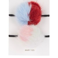 Double Pom Hair Ties | Topshop