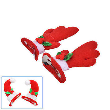 1Pair Horns Antlers Christmas Hat Non-Slip Hair Clip Hairpin For Kid  Women HU