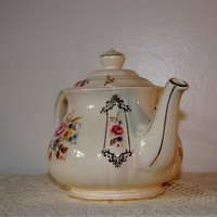 English Porcelain Sadler Floral Teapot