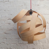 Random Large Lampshade Ash wood by Randomlights on Etsy