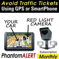 PhantomAlert Red Light Camera and Speed Light Detector Software for select Garmin, TomTom and Magellan GPS (1-Year Subscription)