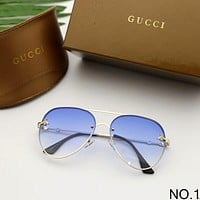GUCCI trendy small bees round face big frame fashion visor female models mirror F-A-SDYJ NO.1