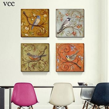 VCC Paintings on the wall art canvas painting wall pictures for living room home decor cuadros decoration picture birds unframed