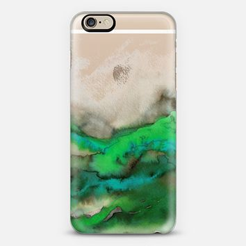 WINTER WAVES 6 Watercolor Green Turquoise Ocean Abstract Painting Colorful Ombre Transparent Spring Sea Coastal Lime Aqua Blue Gray Beige Marble Chic Modern Elegant Fine Art Design iPhone 6s case by Ebi Emporium | Casetify