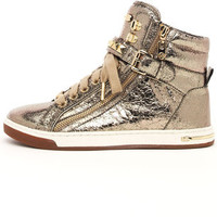 MIchael Kors Gold Studded High-top Sneakers