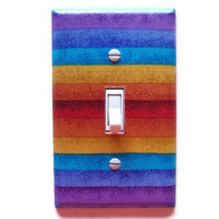 Colorful Stripes Single Toggle Switchplate