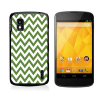 Chevron Pattern- Emerald Google Nexus 4 Case - For Nexus 4