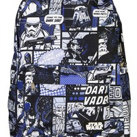 """Star Wars Comic Darth/Jedi"" Backpack by Loungefly (Blue)"