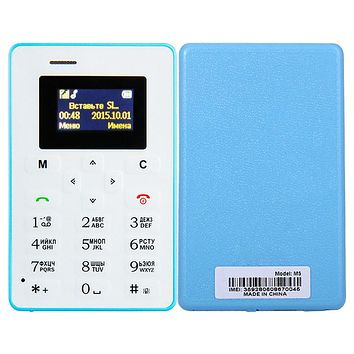 4.5mm Ultra Thin AIEK M5 AEKU M5 Card Mobile Phone Pocket Mini Phone Dual Band Low Radiation telephone card phones