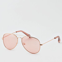 AEO Mono Lens Aviator Sunglasses, Gold