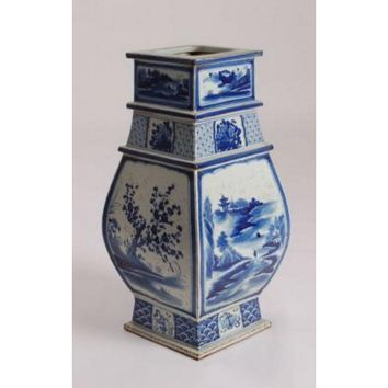 Unique Chinese Vase with Flower and Bird