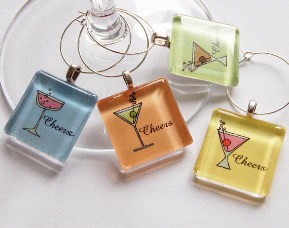 Wine Glass Charms by KellysMagnets