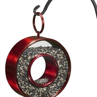Fly-Thru Circle Ruby Red Bird Feeder