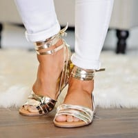 * Jacks Lace Up Sandal:  Gold