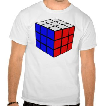 Cube Brain Color Puzzle T Shirts