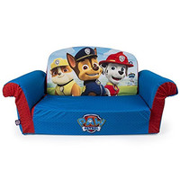 Marshmallow Furniture Paw Patrol 2-in-1 Flip Open Sofa, Convertable Couch into a Comfy Lounger,  29.25 X 16 X 14.75-Inch