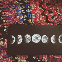 Moon phases hand painted case