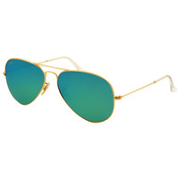 Ray-Ban RB 3025 112-19 58 Unisex Aviator Gold Frame Green Lenses Sunglasses
