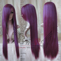 Clannad Kyou Fujibayashi Grape Purple Wig Anime Cosplay Wig Heat Resistant 80cm Long Wig Free Shipping