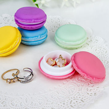 Macaroon shaped jewelry storage containers-Perfect for travel