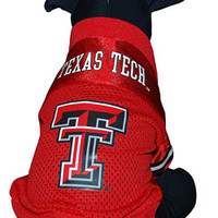 Red Texas Tech Double T Pet Jersey