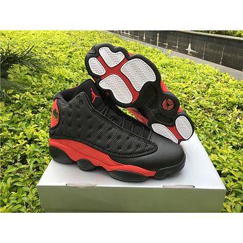 Air Jordan 13 Bred Black Red AJ13 Retro Basketball Shoes