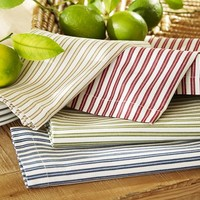 Thatcher Ticking Stripe Napkins, Set of 4