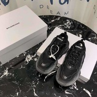 Balenciaga 18FW Black Triple-S Dad Torre Sneakers Trainers Running Shoes