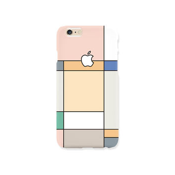 iPhone case - 'Pastel Grid Graphic' - iPhone 5s case, iPhone 6s case, iPhone 7+ case, iPhone SE, iPhone 7, non-glossy hard shell M27