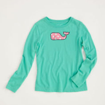 Girls T-shirts: Long-Sleeve Polka Dot Whale Tee for Girls – Vineyard Vines