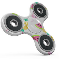 Animated Flamingos and Fruit Full-Body Fidget Spinner Skin-Kit