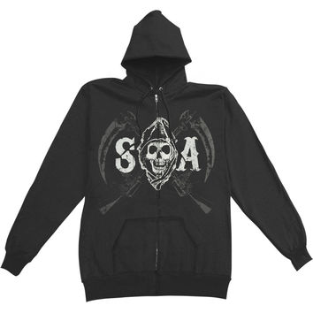 Sons Of Anarchy Men's  Sons Of Anarchy Double Sided Hooded Sweatshirt Black