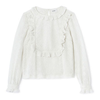 Cream Cotton Lace Top by Polder