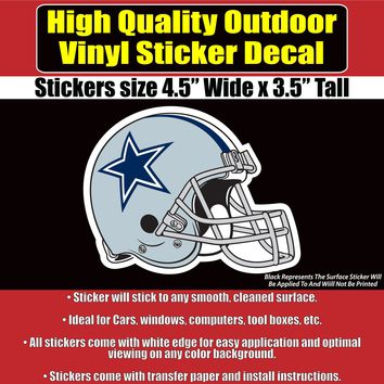 Dallas Cowboys - 2 Styles - Vinyl Car Window Laptop Bumper Sticker Decal