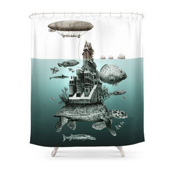 Society6 Turtle Shower Curtains