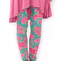 Simply Southern Leggings - Roses
