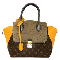 LOUIS VUITTON Yellow and Grey Majestueux PM Ltd. Edt. Tote Bag rt. $8350