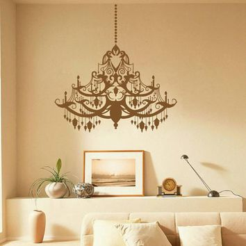 ik1619 Wall Decal Sticker vintage chandelier lamp bedroom living room