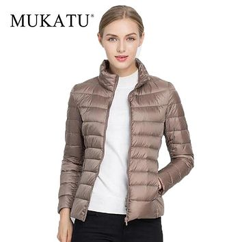 Ultra Light White Duck Down Jacket Women 2017 Sexy Winter Down Coat Plus Size Packable Jacket Brand Women Down Parkas S-3XL