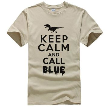Keep Calm And Call Blue - T-shirt - Dinosaur Tee