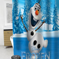 olaf disney frozen Custom Shower Curtain Funny Shower Curtain size 36x72,48x72,60x72,66x72