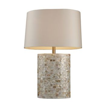 Sunny Isles Table Lamp In Genuine Mother of Pearl
