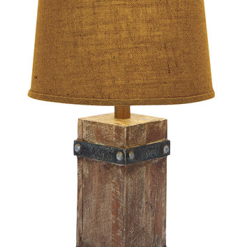 Classy Wooden Table Lamp With Beautiful Shade Design