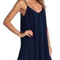 Cross Back Asymmetrical Spaghetti Strap Dress