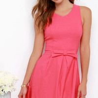 Hot Off the Precious Coral Pink Dress