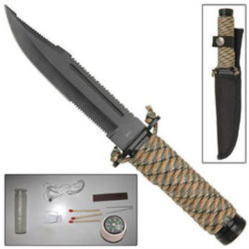 Paracord Wrapped Survival / Hunting Knife WG1019